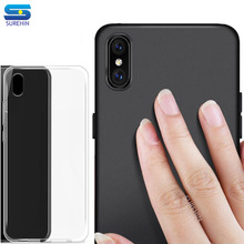 SUREHIN soft case for iPhone XS MAX 11 Pro X XR 8 7 6S plus cover case matte red black blue pink clear transparent silicone case