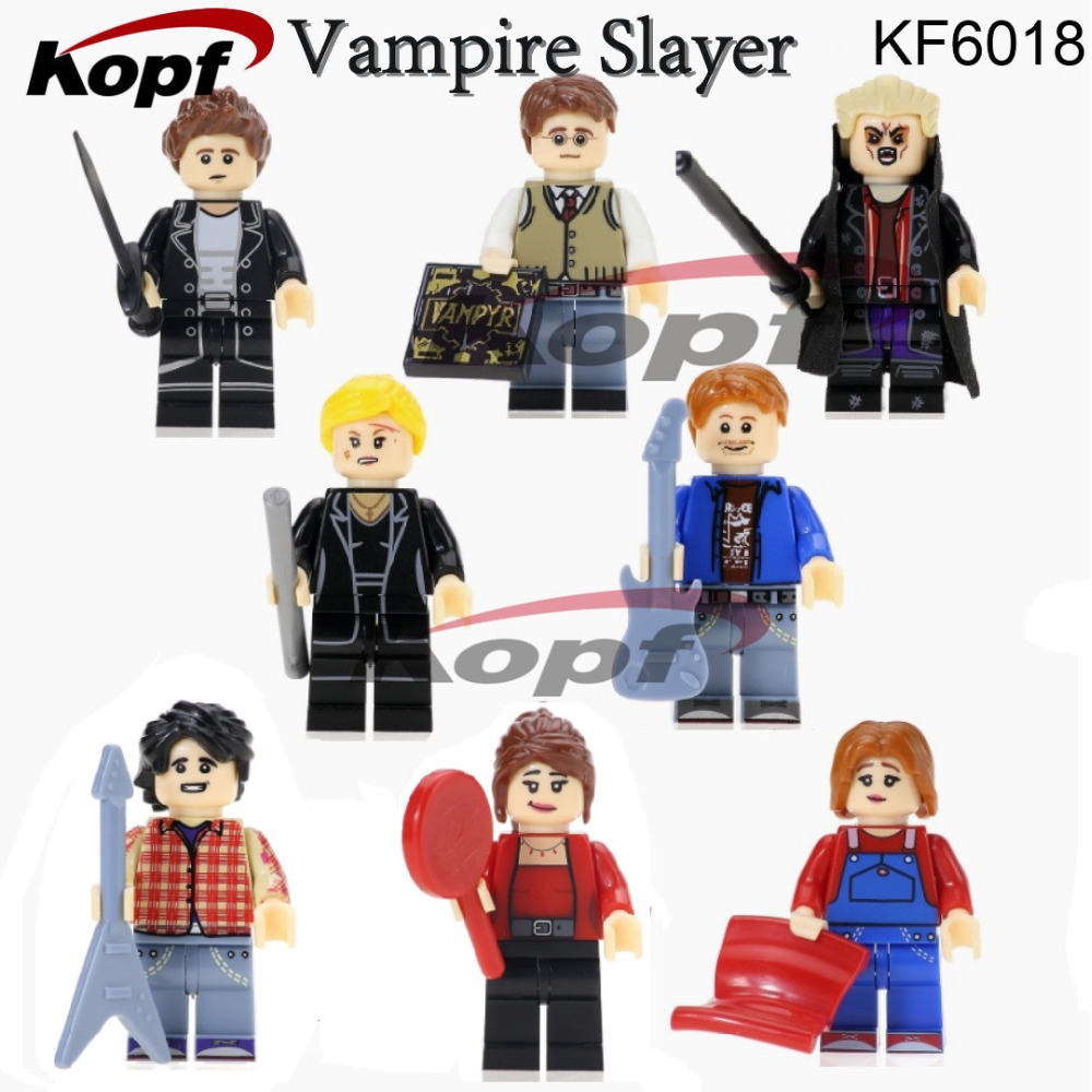 Single Sale Super Heroes Angel Spike OZ Giles Buffy the Vampire Slayer Series Bricks Building Blocks Children Gift Toys KF6018 single sale super heroes red yellow deadpool duck the bride terminator indiana jones building blocks children gift toys kf928