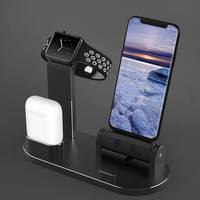 Fashion 3 in 1 Aluminum Alloy Charger iphoneX/8/7 Multi function Charging Bracket for Apple Watch AirPods