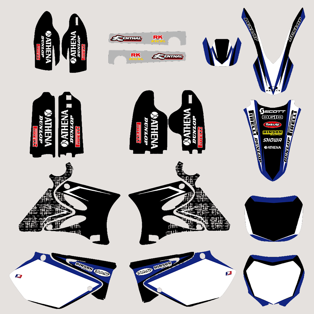 Motorcycle TEAM GRAPHICS DECALS STICKERS Kits for Yamaha YZ125 YZ250 YZ 125 250 2002 03 04 05 06 07 08 09 10 11 2012 2013 2014 цена