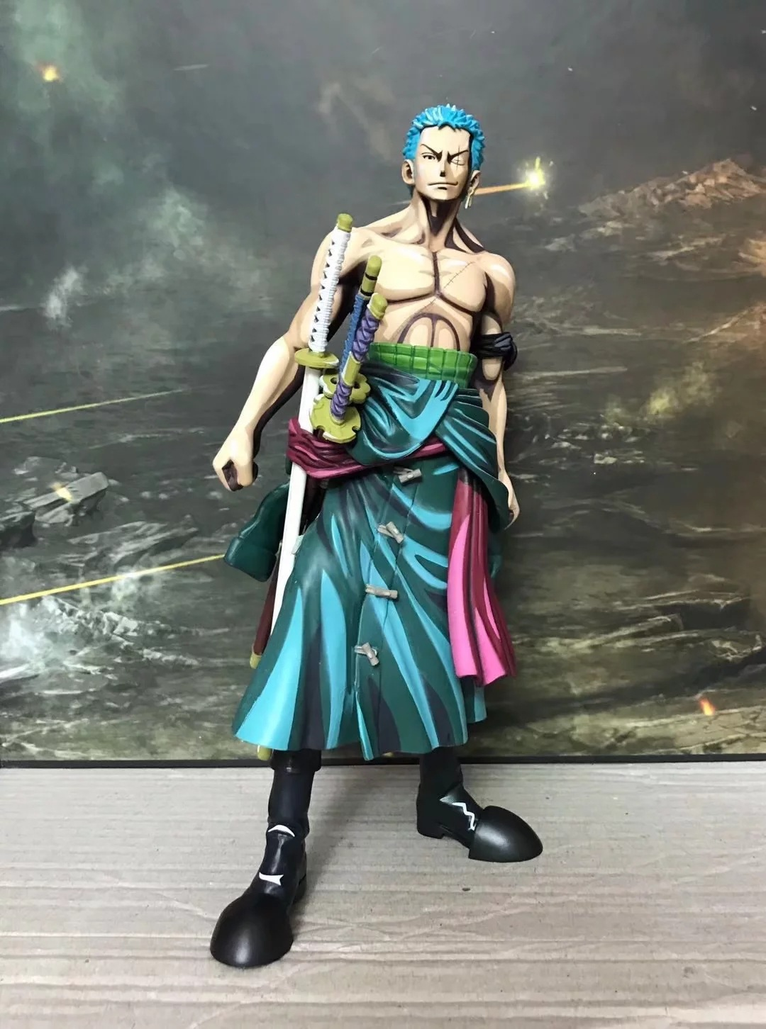 US $24 48 OFF Anime e Piece Ver Roronoa Zoro Action Figure asi Yang Straw Hat Pirates PVC gambar Toy 25 CM di Aksi & Toy Angka dari Mainan &