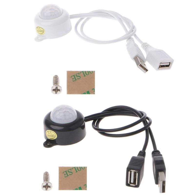 USB LED Light Strip Switch DC5-24V Human Body Infrared PIR M