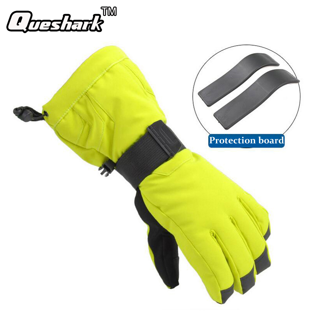 Ladies leather cycling gloves - Professional Ski Gloves Waterproof Warm Windproof Cycling Gloves Women Men For Snowboarding Skiing Gloves Size S Xl