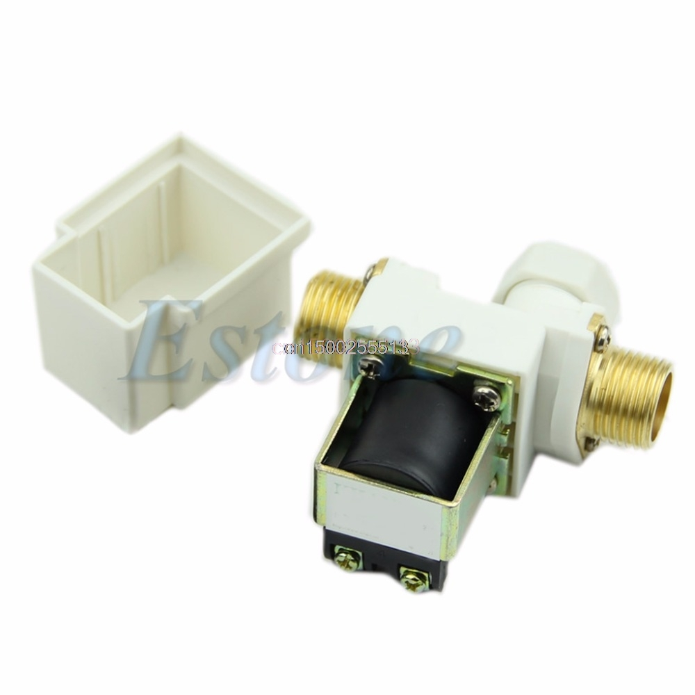 Water Valve N/C DC 12V 0-0.8MPa 1/2 Electric Solenoid Valve for Water Air New