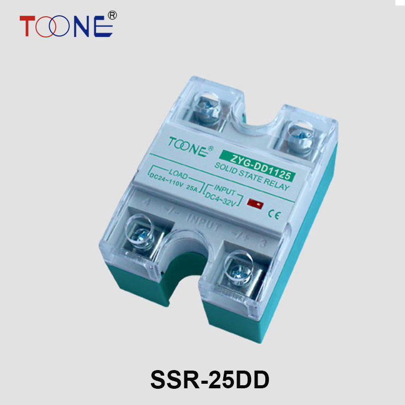 Подробнее о DC-DC 25A Solid State Relays SSR-25DD 3~32V DC to 5~220V DC Relay 24V with Aluminum Heat Sink Plate KS1-25DD Explosion-proof soild state relay ssr 25 dd dc dc 25a 3 32vdc 5 200vdc