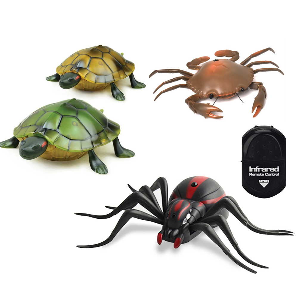 Electric Remote Control Crab Spider Infrared Reptile RC Animal High Simulation Model Children Early Learning Educational Toys