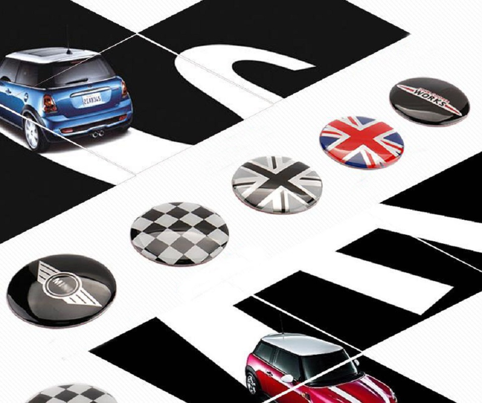 4pcs/set 52mm Wheel Center Cover stickers Mini Cooper S one JCW clubman countryman R50 R52 R55 R56 R57 R58 R59 R60 car-styling защита картера rival 333 8205 1 mini clubman 2015 v 1 5 mini clubman s 2015 v 2 0 mini cooper 2014 v 1 5 mini cooper s