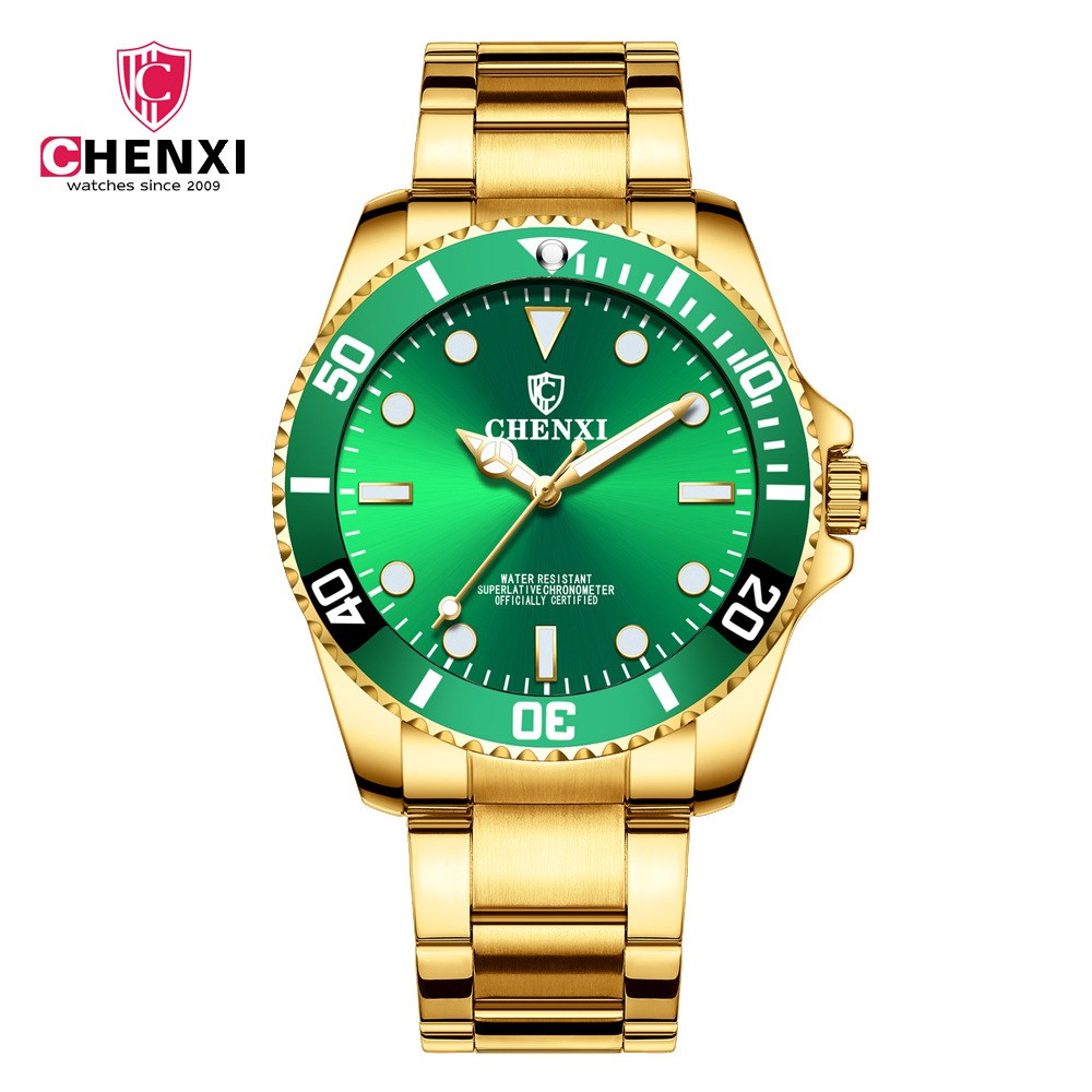 CHENXI mode Hommes Quartz Montres Hommes Or Montres Top Marque De Luxe Homme Horloge IPG Étanche D'or bracelet En Acier Montres