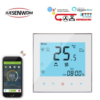 2PIPE Touch screen WIFI thermostat regulator temperature for fan coil unit 24VAC,AC95~240V