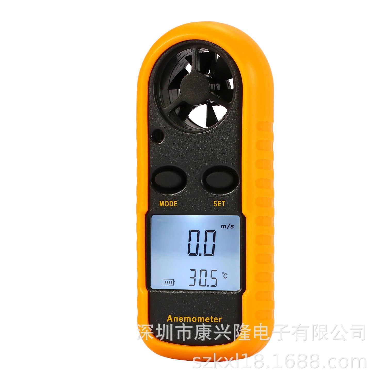 GM816 มินิดิจิตอลเครื่องวัดความเร็วลมความเร็วลมความเร็วลมอุณหภูมิวัด anemometro backlight กระดาษแข็ง