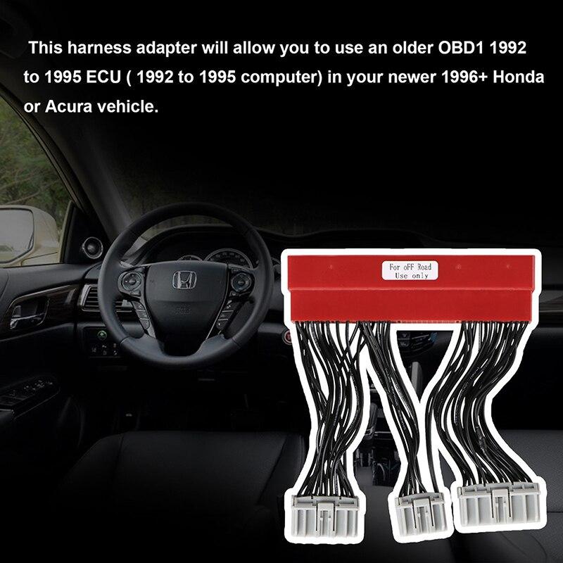 For Honda Civic Accord Acura OBD2A To OBD1 Conversion ECU Jumper Harness  Adapter