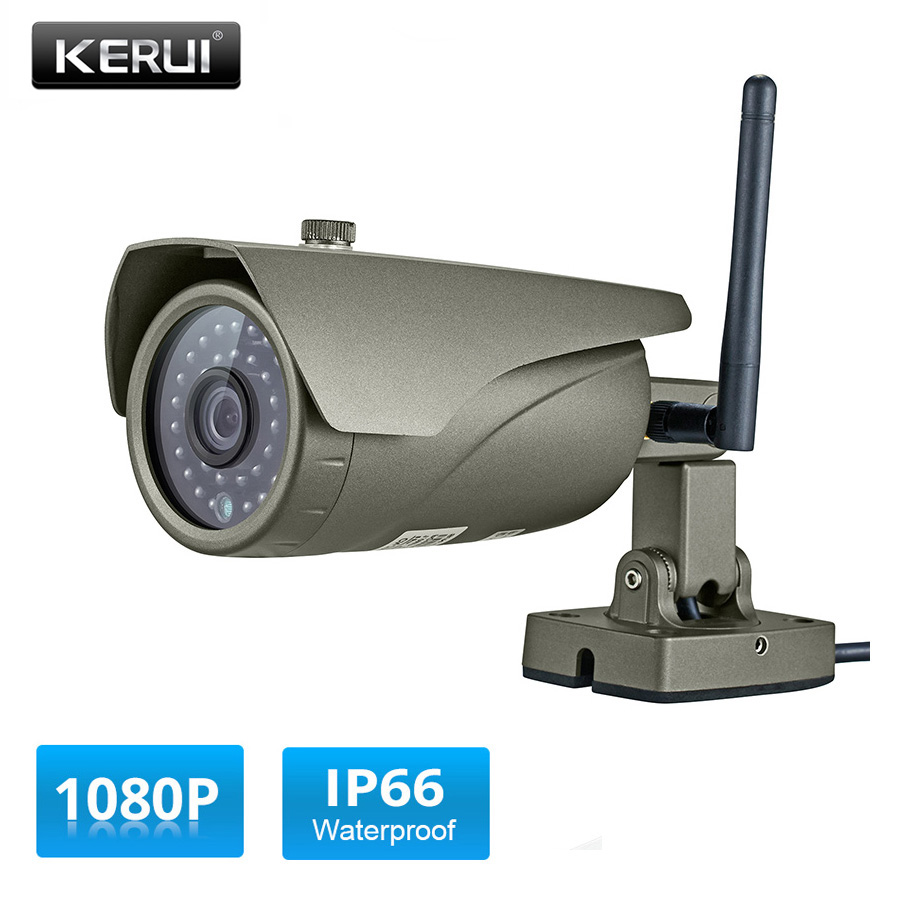 KERUI Full HD 1080P Real-time Viewing WIFI IP Camera P2P 2.0MP Waterproof Outdoor Onvif Surveillance Camera with HDMI VGA OutputKERUI Full HD 1080P Real-time Viewing WIFI IP Camera P2P 2.0MP Waterproof Outdoor Onvif Surveillance Camera with HDMI VGA Output