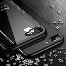 FLOVEME Tempered Glass Phone Case for iPhone X 10 , 0.55MM Protective Mobile Phone Cover Cases for iPhone 7 8 7 Plus Accessories