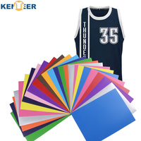 열전달 비닐 A4 크기 12 색상 전송 비닐 높은 탄성 철 옷 비닐 시트 디자인 모자