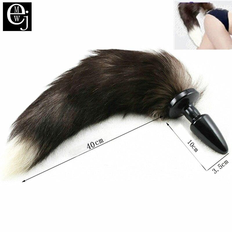 Ejmw Silicone Anal Plug Tail Long Fox Tail Anal Plug Pretty Love Anal Butt Plug Men -1365
