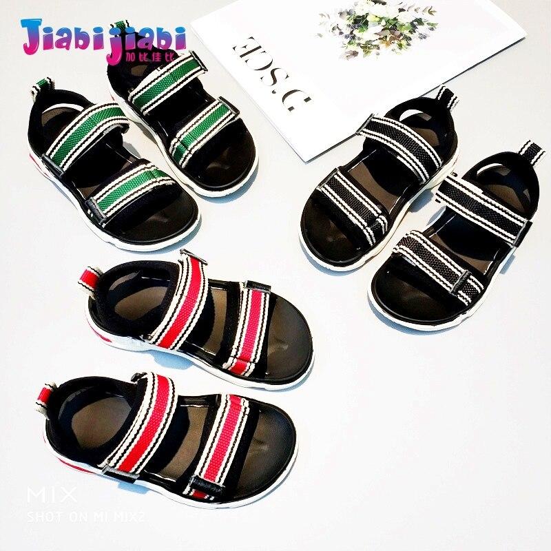 1-12T Summer Children Boys Cozy Beach Sandal Baby Girls Fashion Roman Shoes Toddler Menino Kid Male linen Striped Casual Sandals