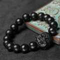 high quality black bianshi jade banichi natural black stone bracelets carve balck banichi jade jade jewelry for men and women