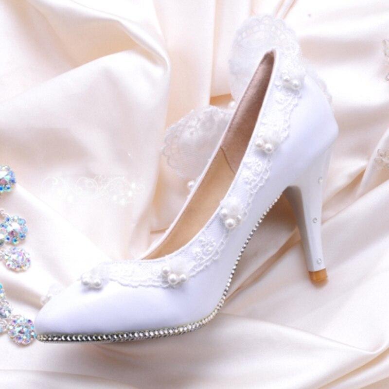 Parti Talons Mariée Bal Mariage De Hauts Mode Lady Eveningclub Strass À Chaussures Femme Bowtie Blanc qnzZfYW