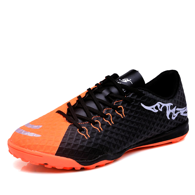 1a5e636b8ff0 2018 New Men Indoor Football Shoes Turf TF Soccer Cleats for Boys Kids  Trainers Sneakers Zapatillas Futbol Sala Hombre 32 45-in Soccer Shoes from  Sports ...