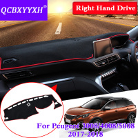 QCBXYYXH For Peugeot 3008 4008 5008 2017 2018 RHD Dashboard Mat Protective Interior Photophobism Pad Shade Cushion Car Styling