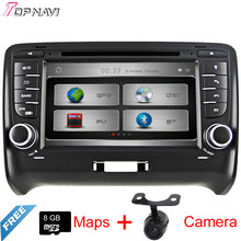 "7"" Two Din Wince Car GPS For TT 2006 2007 2008 2009 2010 2011 2012 2013 2014 2015 With DVD Radio Stereo Map BT Free Shipping"