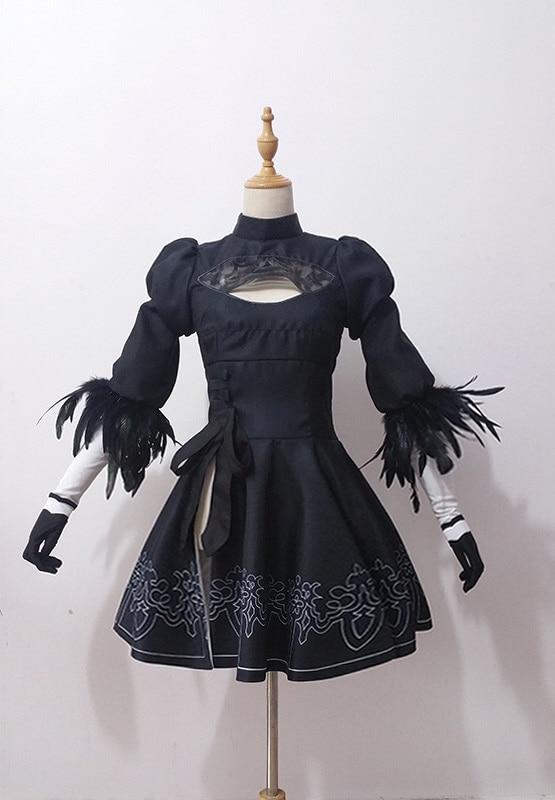 NieR Automata 2B Vestido Cosplay Disfraz YoRHa No. 2 Tipo B Mujer - Disfraces