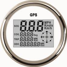 Universal 85mm Digital GPS Speedometer 0 999 knots km/h mph Odometer 12V/24V With Backlight