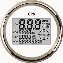 Uniwersalny 85mm cyfrowy prędkościomierz GPS 0 999 węzłów km/h mph przebieg 12 V/24 V z podświetleniem