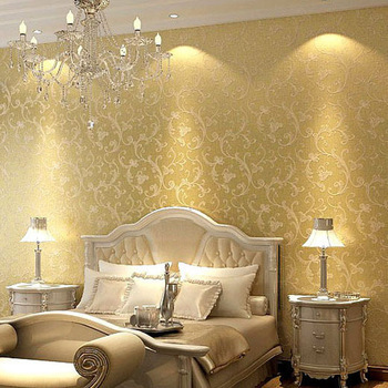 Us 54 0 Classic Victorian Non Woven Bedroom Textured Glitter Wallpaper Metallic Gold Wall Paper Background Wall Covering Home Decor In Classic