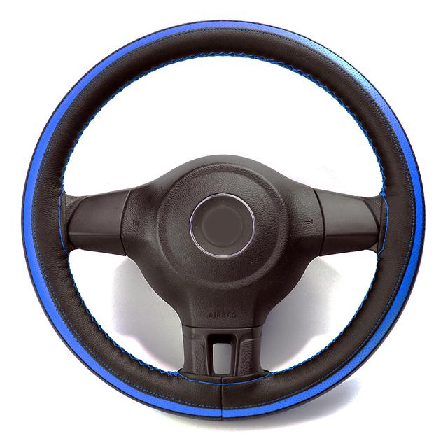 Cubierta de la rueda del coche de VENSECO contraste brillante de color de la cubierta del volante del aire del diseño de la tubería de costura de la cubierta de la dirección clásica