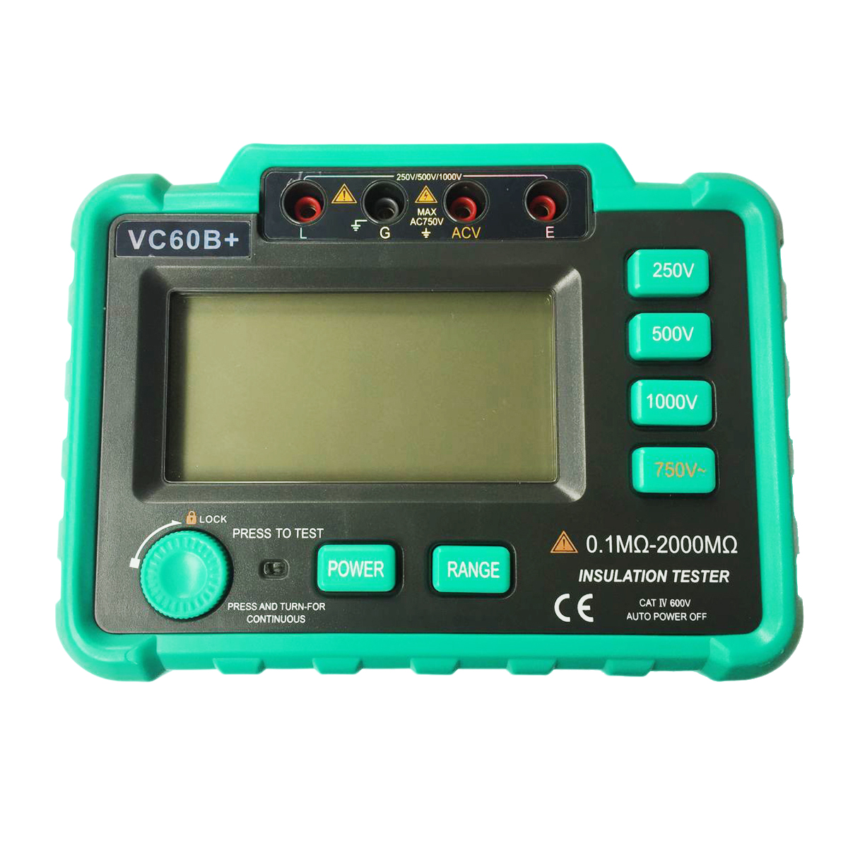THGS VC60B+ Digital Insulation Resistance Tester Megohm Meter Megohmmeter earth ground resistance impedance tester DC250V/500V цена