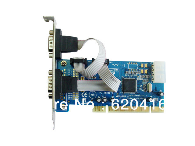 iocrest 2-ports PCI Controller Card Based onSB16C1053 Chipset,Support Low Profile Bracket