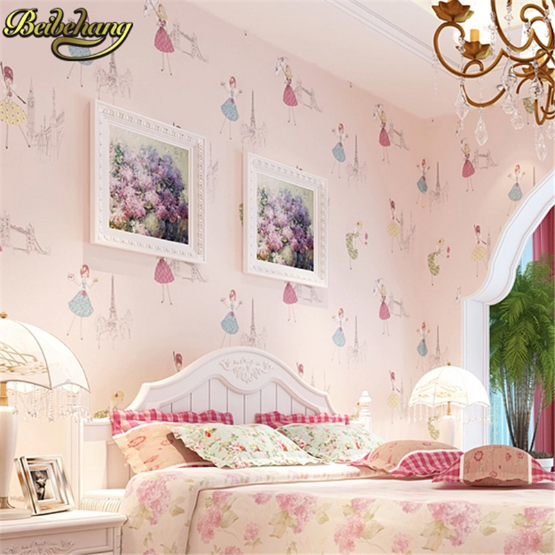 beibehang Modern Cartoon Kid wallpaper for walls papel de parede 3D Wall paper Ballet girl princess room bedroom papel parede beibehang blue retro nostalgia wallpaper for walls 3d modern wallpaper living room papel de parede 3d wall paper for bedroom