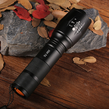 100% Authentic 6000 Lumens 5-Mode CREE XM-L T6 LED Flashlight Zoomable Focus Torch Camping Flashlight by 1*18650 or 3*AAA