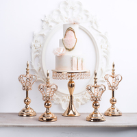 Lace Crown Candle Holder Candlestick Dessert table centerpieces decoration for candle cake Christmas Home Decoration ornaments