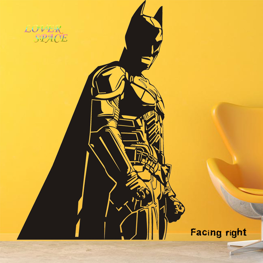 Batman Vinyl Wall Decals Dark Knight Sticker Comics Art Removable ...