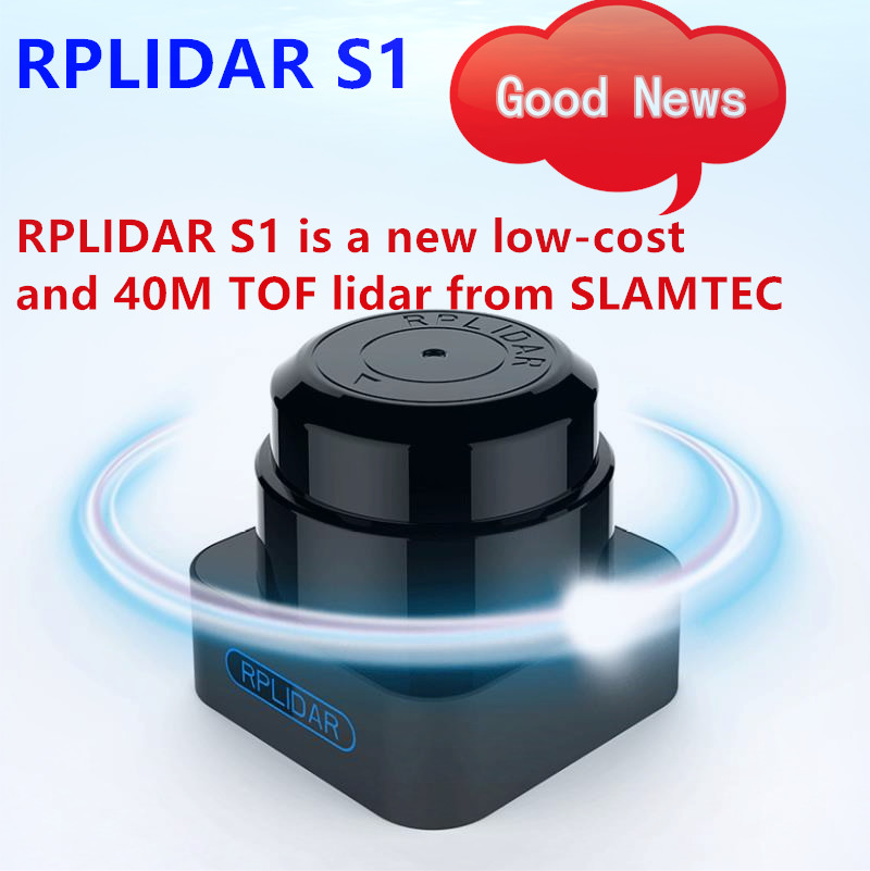 Scanner lidar à faible coût de 360 degrés RPLIDAR S1 TOF 40 mètres pour éviter les obstacles et la navigation des UAV AGV