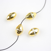 10pcs Small Gold Copper Electroplated Shell Cone Charms Inlay White Pearl Shell Loose Beads Holes Crafts Bracelet Healing
