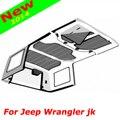 Hard Top Boom Mat Som Merecimento Headliner Cabeça Forro Isolante Macio Pad Isolamento Do Telhado Painel EPE para Jeep Wrangler jk 07 up