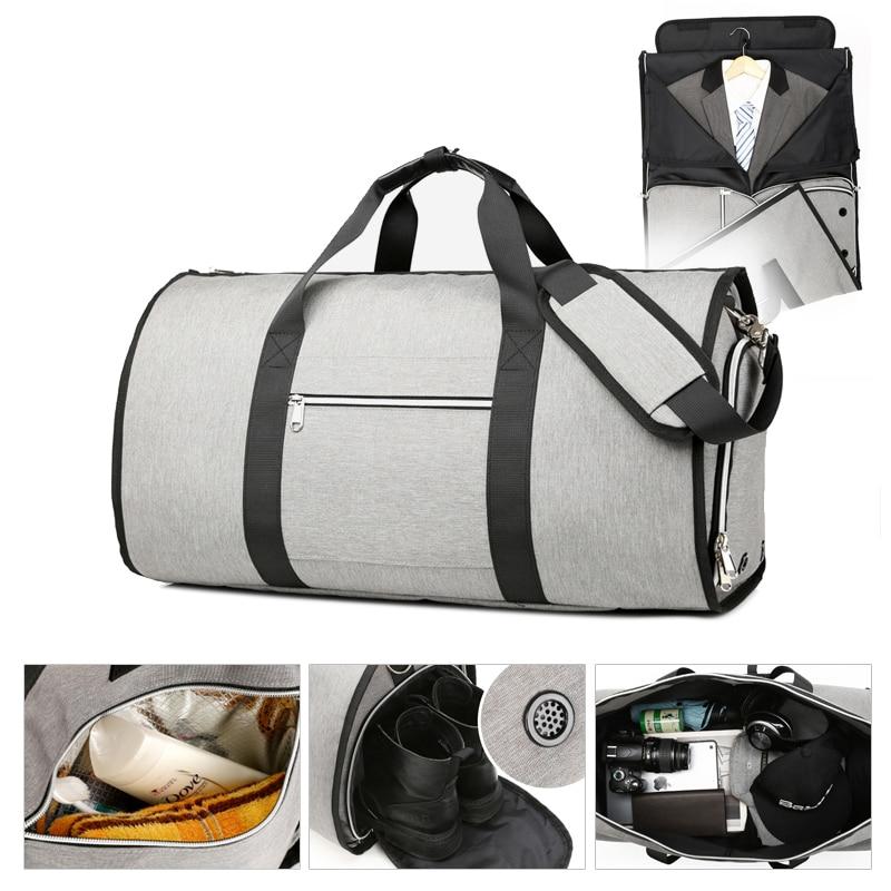 High Quality Men Travel Garment Bag Shoulder Duffel Bag Carry On Hanging Suitcase Multiple Pockets Clothing Business Luggage Bag