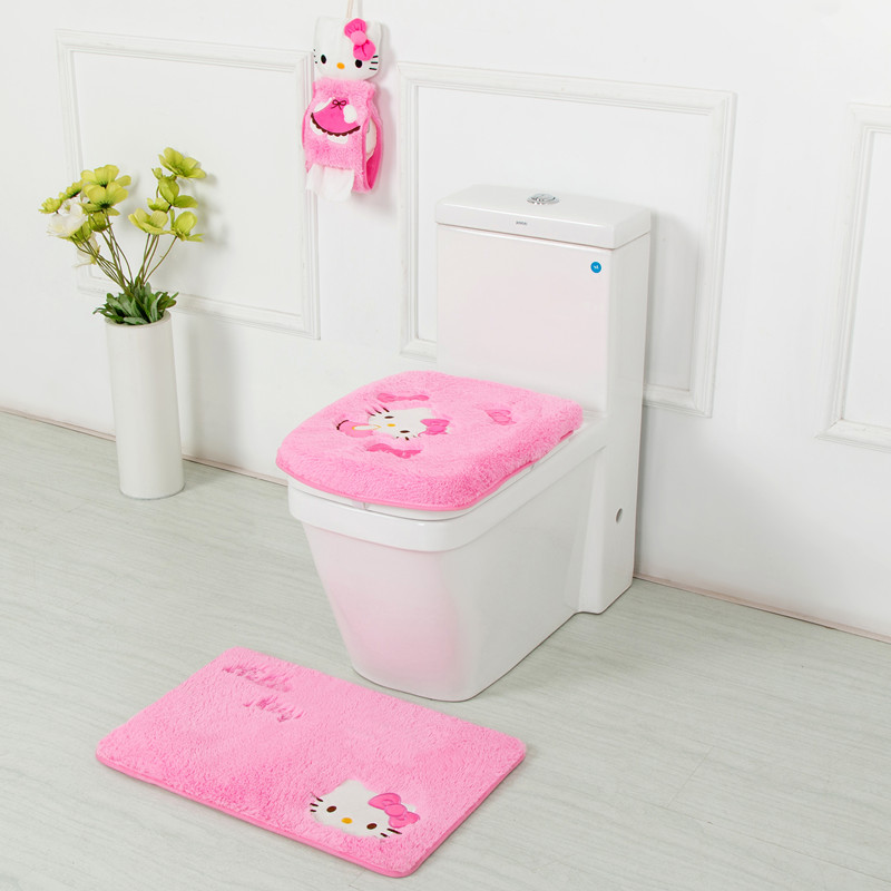 Online Get Cheap Hello Kitty Bathroom Set Toilet Set Cover