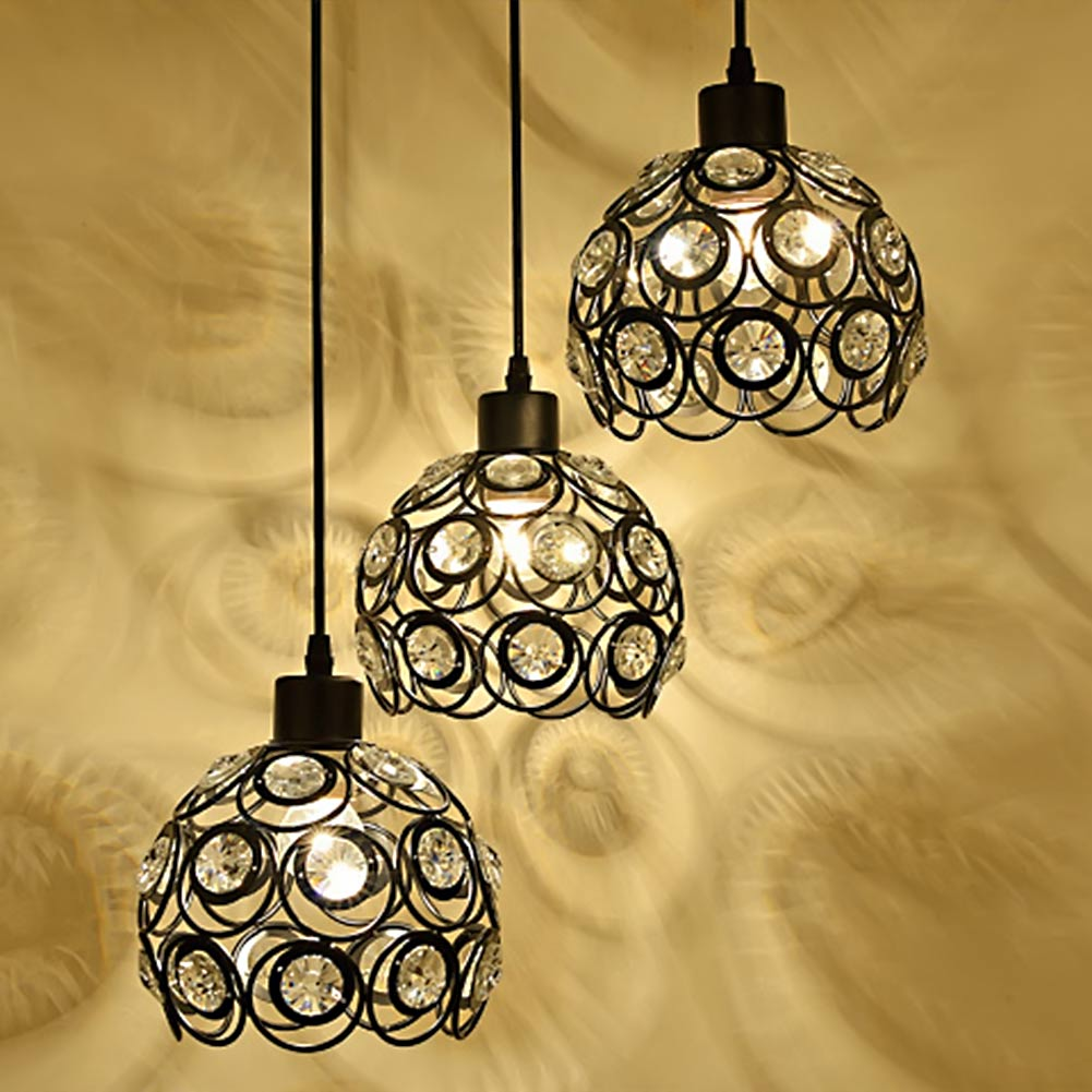3 Heads Hanging Lamps Modern Crystal Pendant Lamp Luxury Home Light Bedroom Kitchen Hallway Hanging Lamps Pendant Light free shipping european style modern luxury brief crystal candle pendant lamp with 3 heads 5 heads