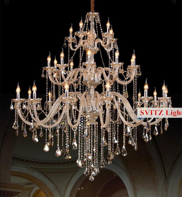 Bohemian 32 42 pcs Cognac chandelier crystal lighting for church ...