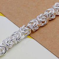 Прибытие посеребрение манжеты цепь подвески ведущий креветки пряжка браслет ювелирные изделия браслет smth073