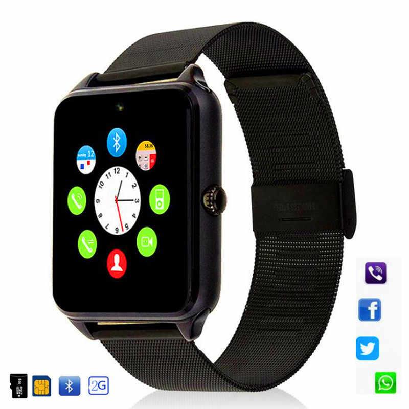 Смарт-часы Z60 для мужчин и женщин, наручные часы с Bluetooth, Поддержка 2G SIM/TF карты, наручные часы для Apple, Android Phone, PK Y1 DZ09 GT08