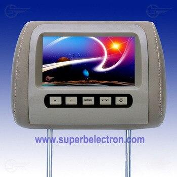 "universal 7"" inch car headrest monitor/LCD monitor for car ,480*234 pixel,Two video input ,Multi-language menu,chevrolet cruze"