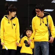 Family matching clothes Autumn winter family mother kids clothes long sleeve cartoon sweatshirt hoodies plus fleece
