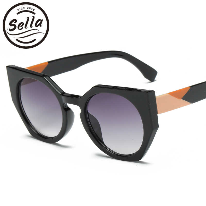 2e519c6bff Sella 2018 New Fashion Women Oversized Cateye Sunglasses Brand Designer  Little Monster Gradient Lens Sexy Ladies