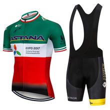 2019 Team ASTANA Cycling Clothing Set 9D GEL MTBMens Bicycle Maillot MTB Racing Ropa Ciclismo Summer Hombre Roupa Bike Jersey mtb cycling jersey 2019 breathable mtb jersey bike shirt men polyester maillot ciclismo hombre anti sweat bicycle jersey 9d gel