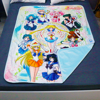 Sailor Moon Blanket Cosplay Prop Flannel Fleece Sheet Chiba Mamoru Japan Anime 125cm*155cm